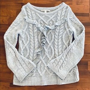 Adorable Knit Sweater with Bell Sleeves
